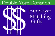 Ask the HR director at your workplace if they participate in a matching gift program to nonprofits.